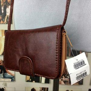 Brandy Melville leather wallet/clutch